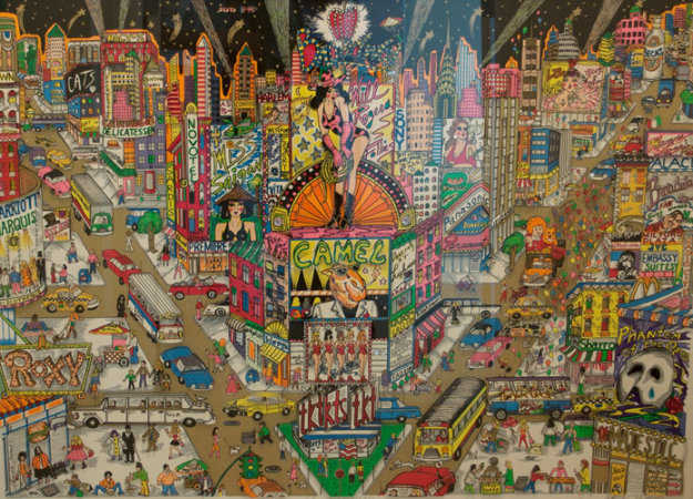 Great White Way, Broadway  3-D 1991 Limited Edition Print by Charles Fazzino