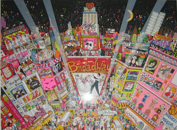 New Year on Broadway 3-D 1996 New York Limited Edition Print by Charles Fazzino