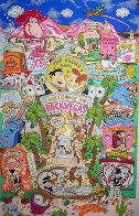 Flintstones Break Rock Vegas 3-D  AP 1996 Limited Edition Print by Charles Fazzino - 0