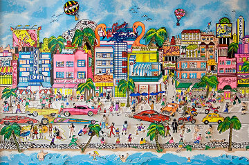 South Beach 3-D Florida Miami 1993 Limited Edition Print by Charles Fazzino
