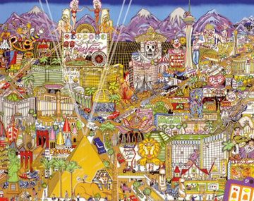 Welcome to Fabulous Las Vegas 3-D 1999 Limited Edition Print - Charles Fazzino
