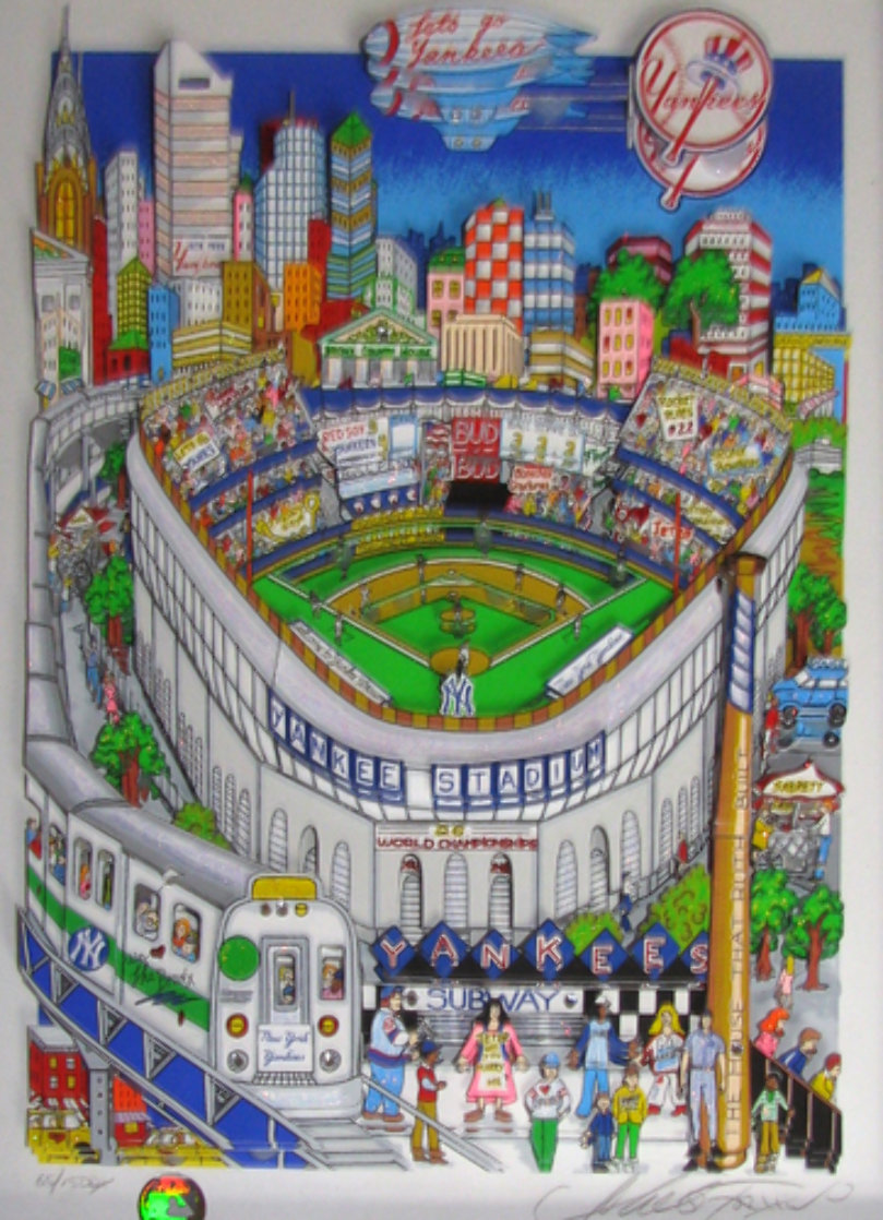 Let's Go Yankees 3-D Limited Edition Print by Charles Fazzino