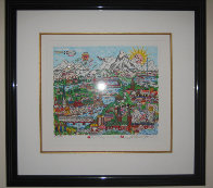 My Heart Belongs to Switzerland 3-D 2004 Limited Edition Print by Charles Fazzino - 1