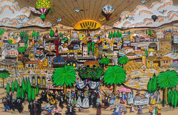 Wedding in Jerusalem 3-D 1991 Limited Edition Print - Charles Fazzino