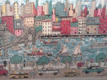 New York City Promenade 3-D 1987 Limited Edition Print - Charles Fazzino