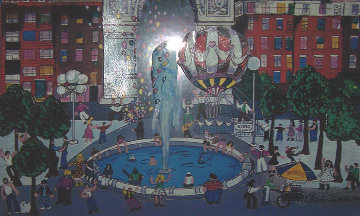 Washington Square Park 3-D 1984 New York Limited Edition Print by Charles Fazzino