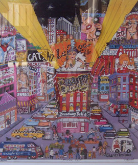 Broadway Night 3-D, New York 1984 Limited Edition Print - Charles Fazzino