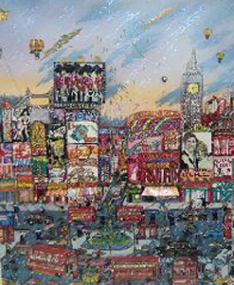 London 3-D 1997 Limited Edition Print by Charles Fazzino
