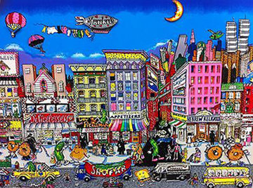 From Fishes and Knishes 3-D New York 1994 Limited Edition Print by Charles Fazzino