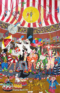 Circus Days 1982 Original Painting - Charles Fazzino