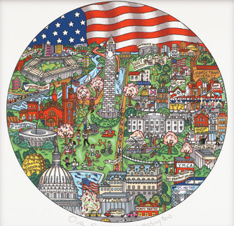 Our Salute to Washington 3-D 2003 Limited Edition Print by Charles Fazzino
