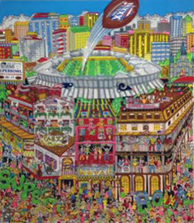 Super Bowl XXXVI 3-D Limited Edition Print - Charles Fazzino