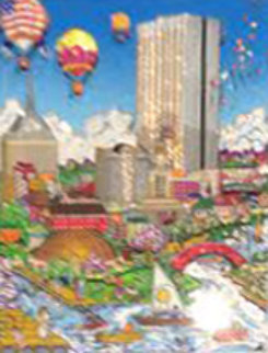 Balloons Over Boston 3-D 2002 Limited Edition Print - Charles Fazzino