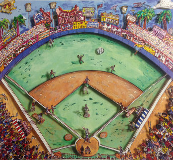 Batters Up 3-D 2000 Limited Edition Print - Charles Fazzino