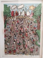 Cool Down 3-D 1990 (New York Marathon) Limited Edition Print by Charles Fazzino - 1