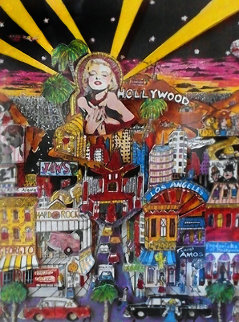 Hollywood 3-D (California) Limited Edition Print - Charles Fazzino