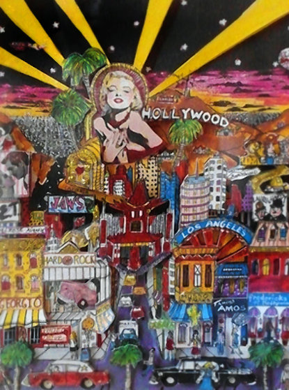 Hollywood 3-D (California) Limited Edition Print by Charles Fazzino