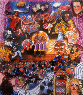 Rock N' Roll 3-D Limited Edition Print - Charles Fazzino