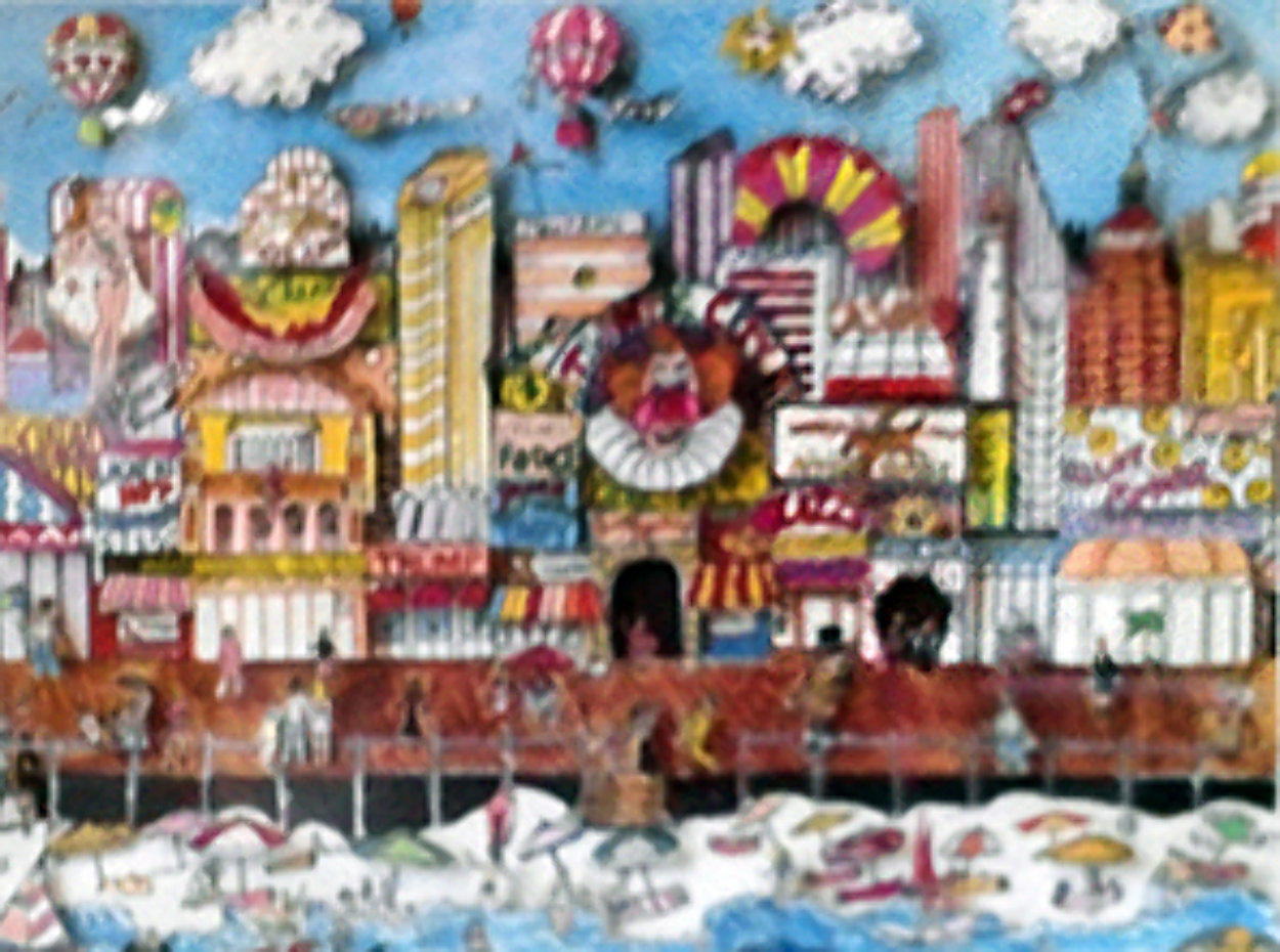 Atlantic City, New Jersey  3-D AP Limited Edition Print by Charles Fazzino