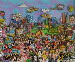 Remembering 70's TV 3-D PP 1994 Limited Edition Print - Charles Fazzino