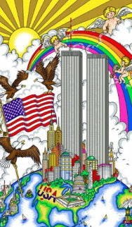 United We Stand, New York Twin Towers 2001 Limited Edition Print by Charles Fazzino