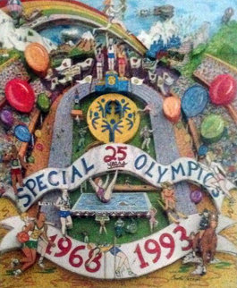 Special Olympics 25th Anniversary 1993 3-D Limited Edition Print - Charles Fazzino