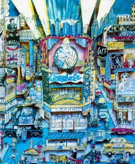 Off Broadway 3-D 1985 New York Limited Edition Print by Charles Fazzino