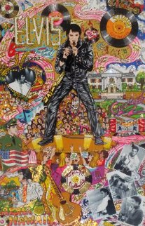 Remembering Elvis Presley 3-D Limited Edition Print - Charles Fazzino