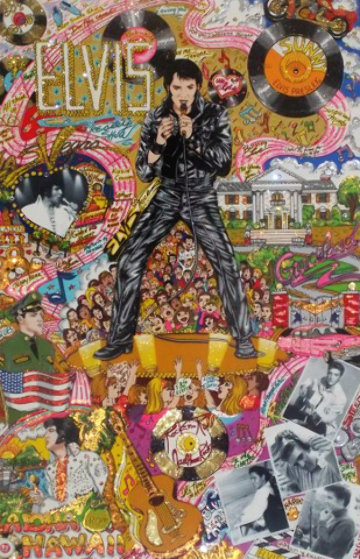 Remembering Elvis Presley 3-D Limited Edition Print by Charles Fazzino