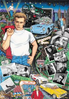 Forever James Dean 3-D Embellished Limited Edition Print by Charles Fazzino