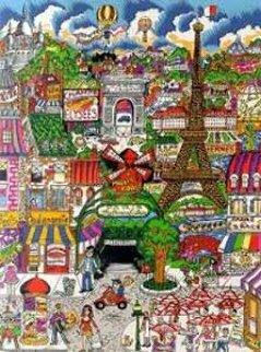 Paris Est a Vous  Limited Edition Print - Charles Fazzino