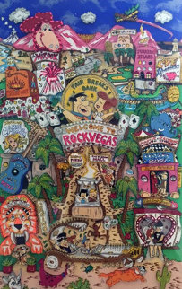 Flintstones Welcome to Rock Vegas 3-D 1996 Limited Edition Print by Charles Fazzino