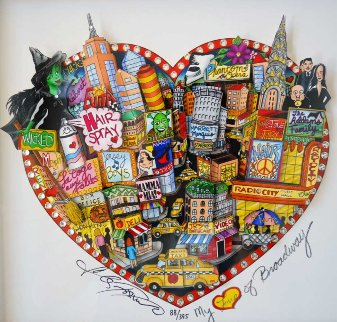 My Love of Broadway 2011 3-D New York Limited Edition Print - Charles Fazzino