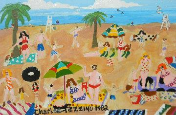 Untitled Painting 1982 16x20 Original Painting - Charles Fazzino