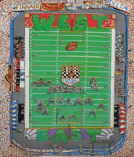 I Luv Football 3-D 1989 Limited Edition Print - Charles Fazzino
