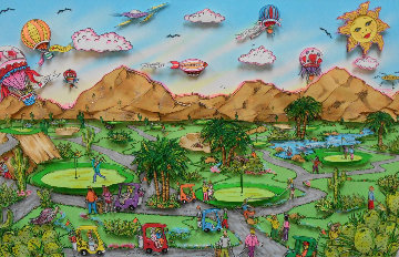 Desert Green 1993 3-D Palm Springs Limited Edition Print - Charles Fazzino