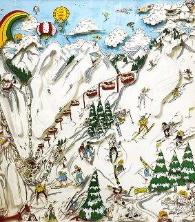 Ski, Ski, Ski 1989 3-D Limited Edition Print by Charles Fazzino