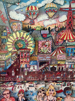 Coney Island 1986 3-D New York Limited Edition Print by Charles Fazzino
