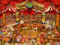 Greatest Show on Earth 3-D W pkg of 4  Limited Edition Print by Charles Fazzino - 1