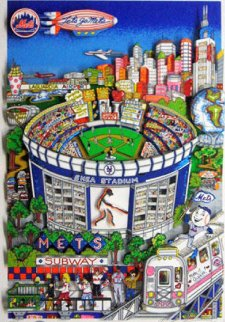 Who Let the Mets Out? 3-D 1994 Limited Edition Print by Charles Fazzino