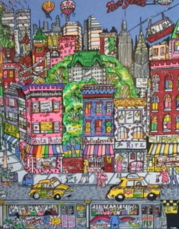 New York, New York 1987 AP 3-D Limited Edition Print by Charles Fazzino