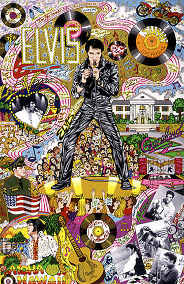 Remembering Elvis 1999 3-D Limited Edition Print by Charles Fazzino
