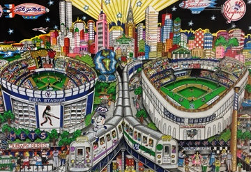 Finally a Subway Series 3-D 2001 Limited Edition Print - Charles Fazzino