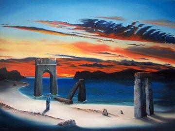 Road to Galilee II 2011 36x48 Super Huge Original Painting - David Fedeli