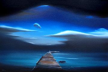 A Promise to Wait 2011 24x36 Original Painting - David Fedeli