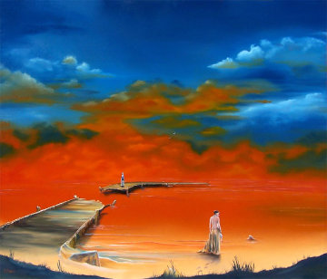 Lake of Fire 2009 24x28 Original Painting by David Fedeli