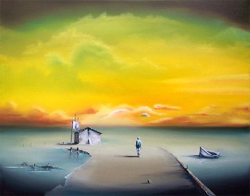 Sailmaker's Life 2011 22x28 Original Painting - David Fedeli