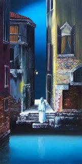 Leap of Faith 2011 30x15 Original Painting - David Fedeli