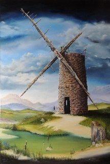 Highland Mill 2014 36x24 Original Painting by David Fedeli