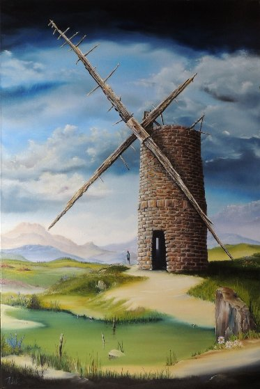 Highland Mill 2014 36x24 Original Painting by David Fedeli